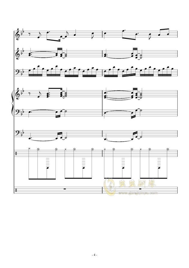 White Canvas钢琴谱 第4页