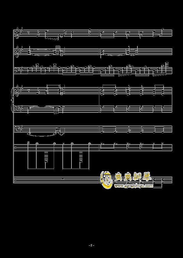 White Canvas钢琴谱 第5页