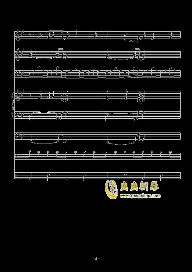 White Canvas钢琴谱 第6页