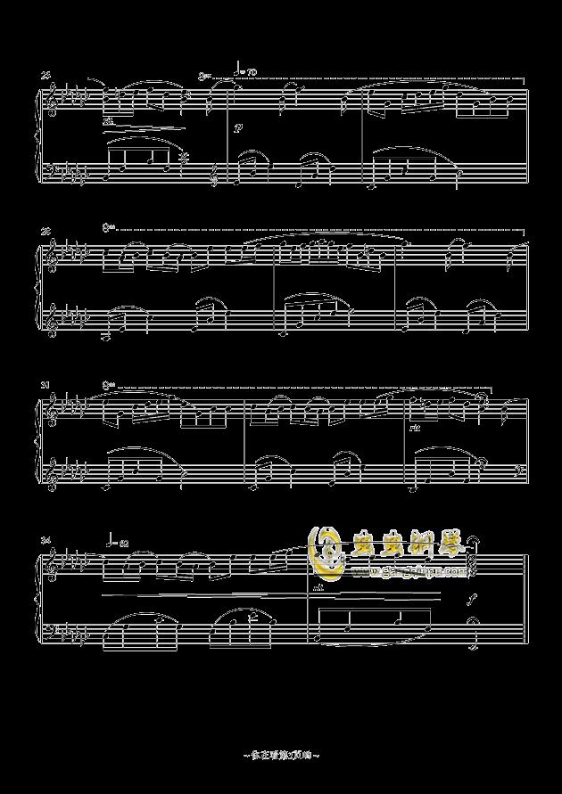 悲しみの���钢琴谱 第3页