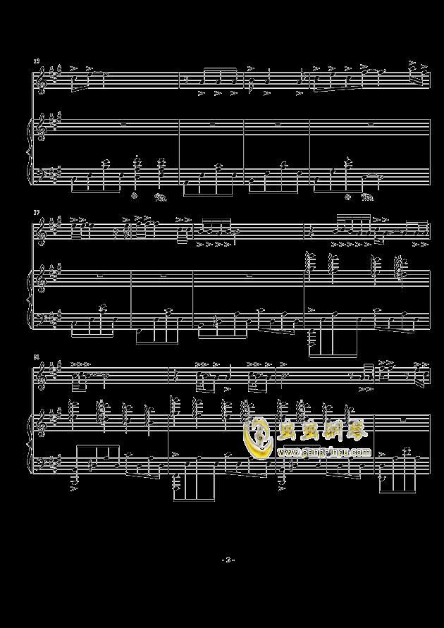 喵喵之歌钢琴谱 第2页