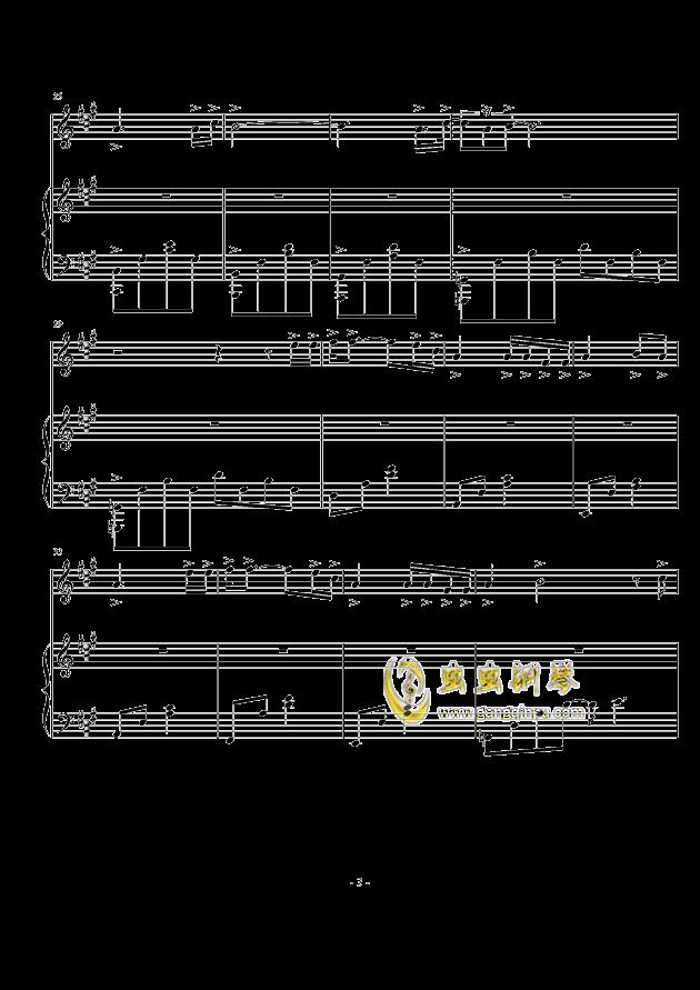 喵喵之歌钢琴谱 第3页
