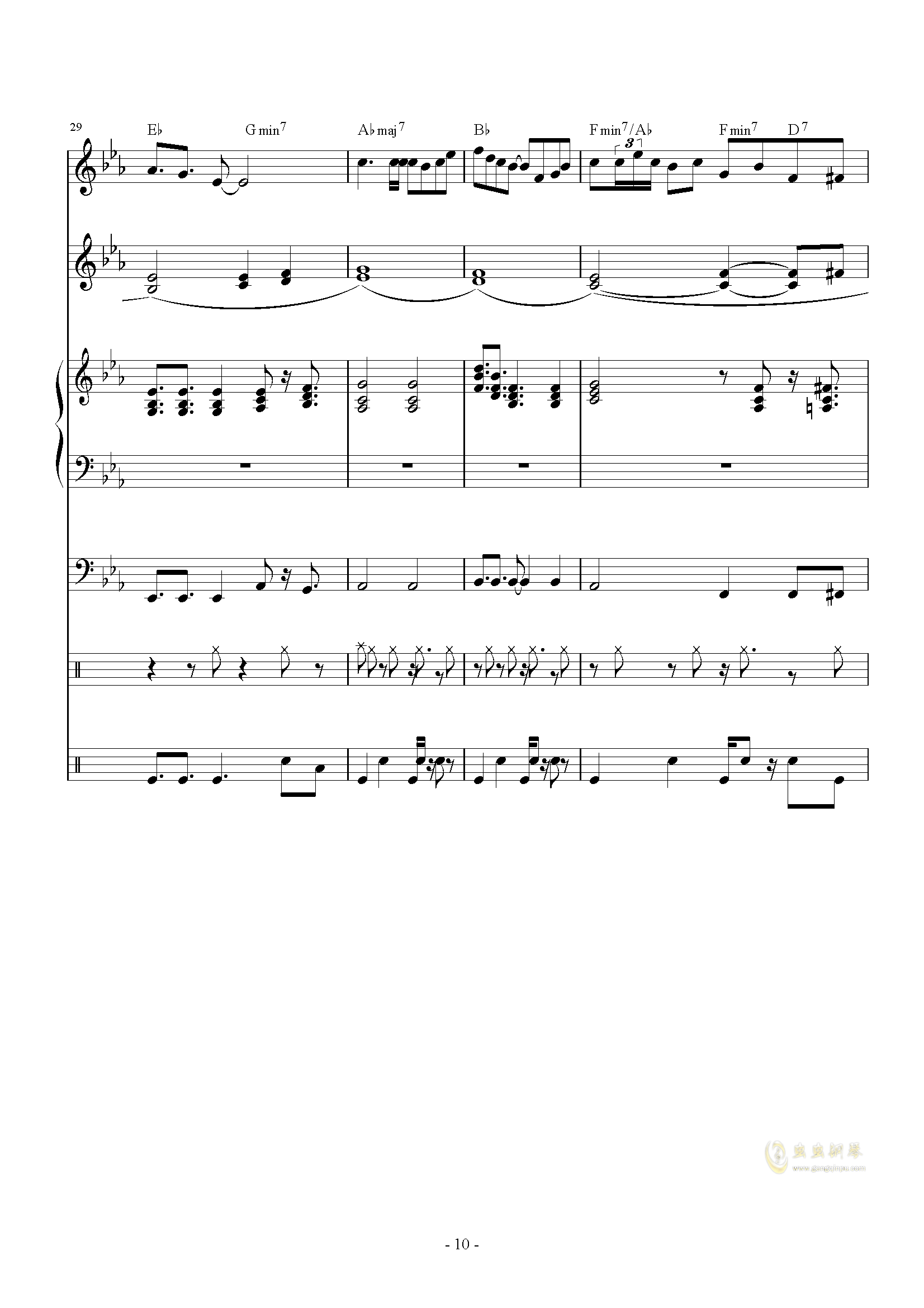 The back of beyond钢琴谱 第10页