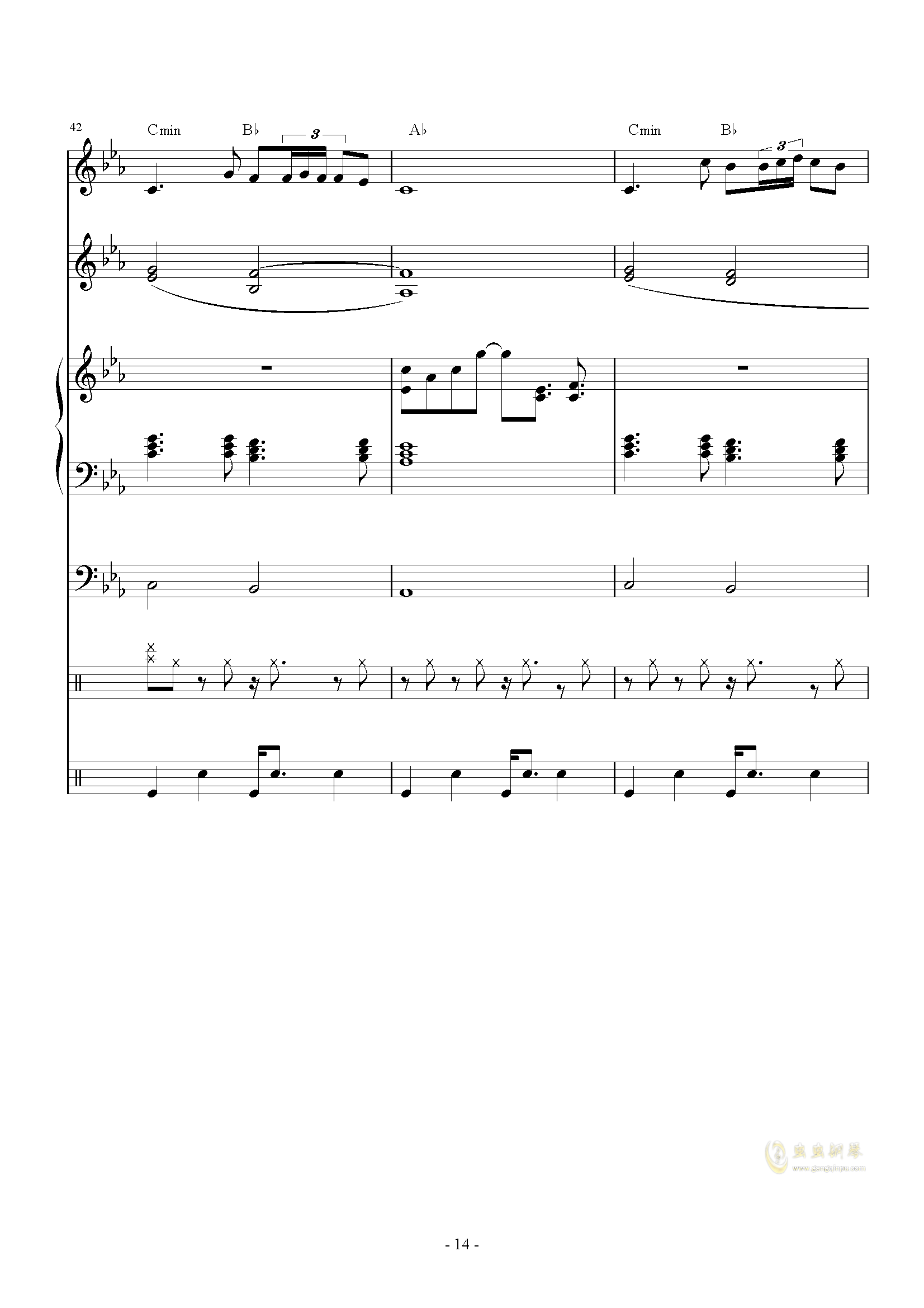 The back of beyond钢琴谱 第14页