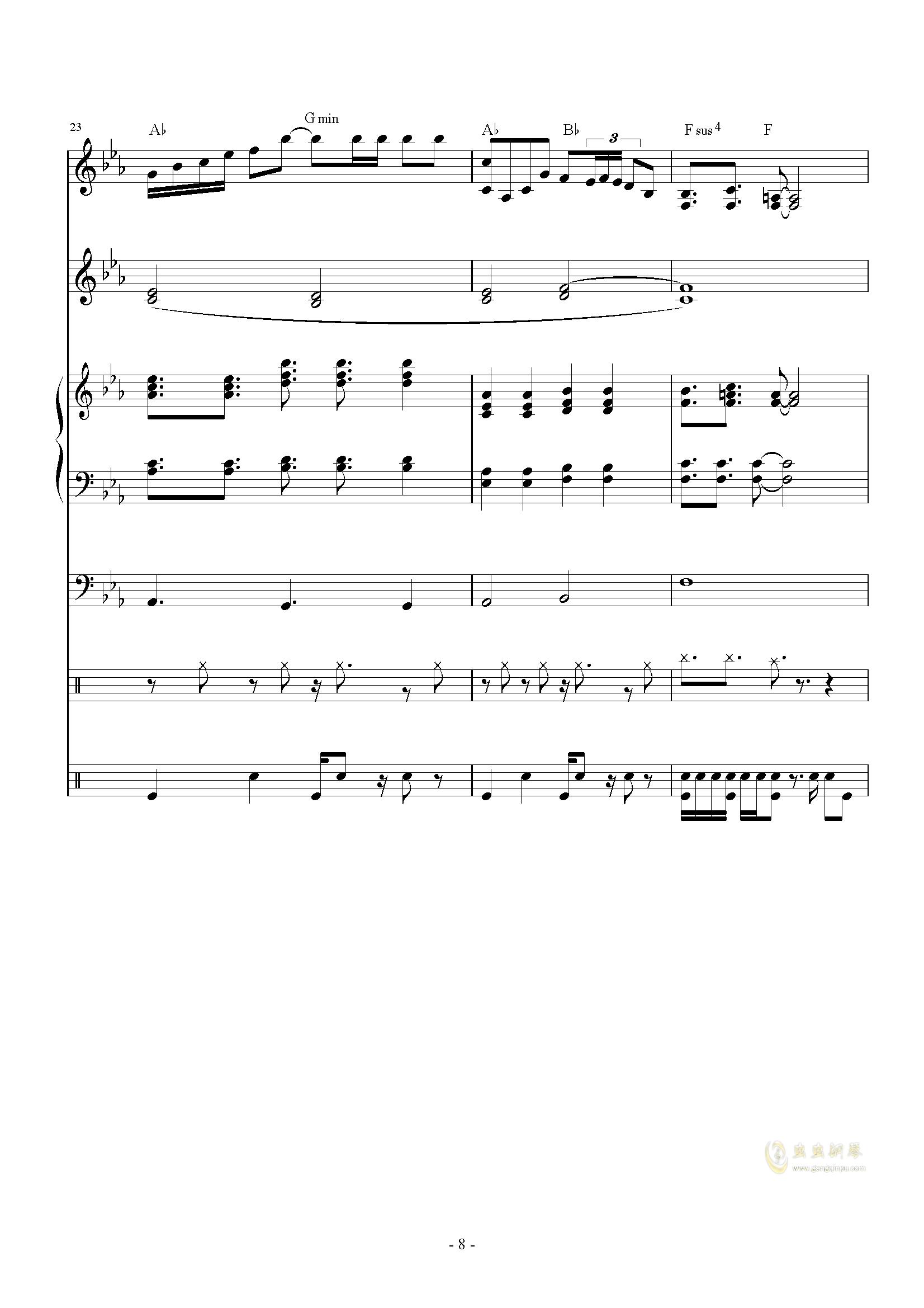 The back of beyond钢琴谱 第8页