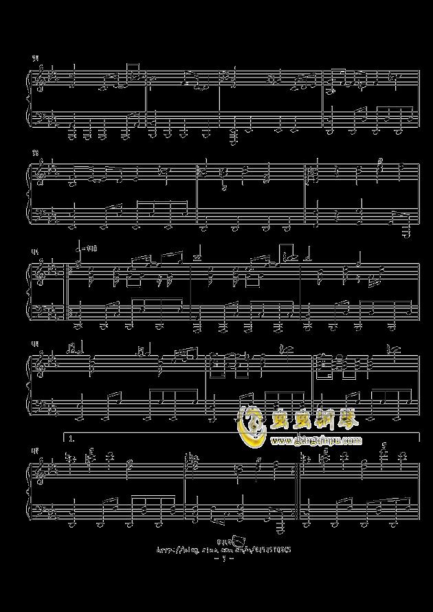 不思�hの国のアリス钢琴谱 第3页