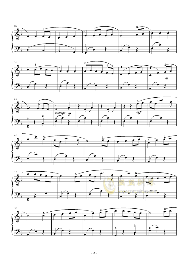always with me钢琴谱 第2页