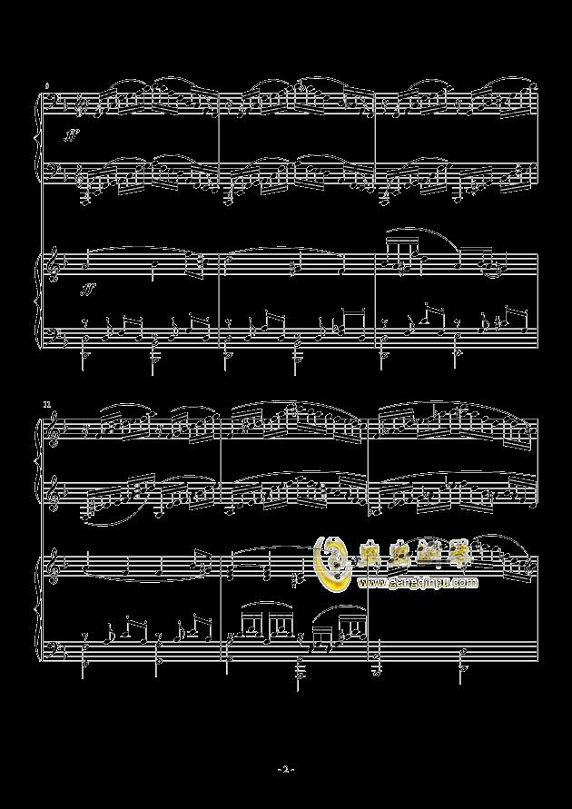 小温狂想曲 2.3钢琴谱 第2页