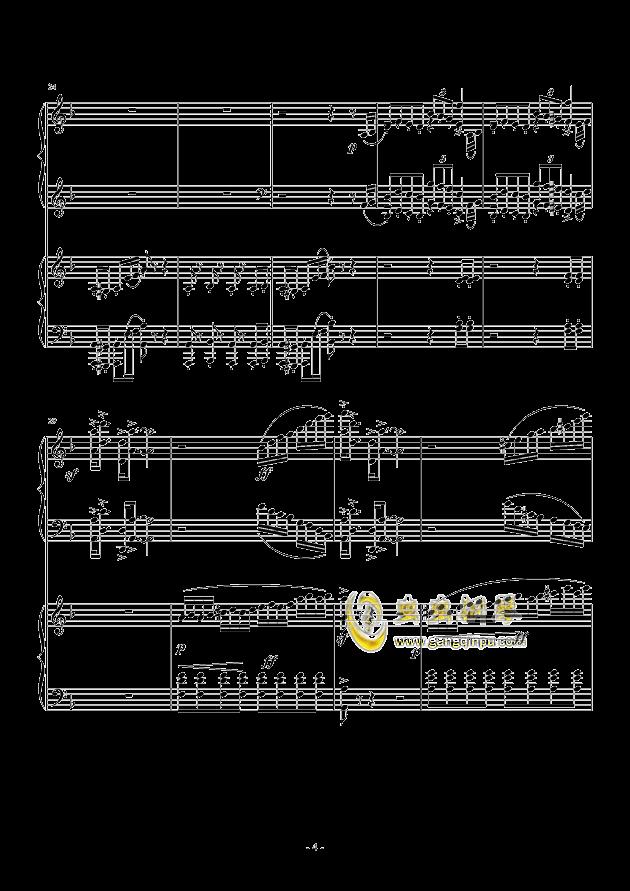小温狂想曲 2.3钢琴谱 第4页