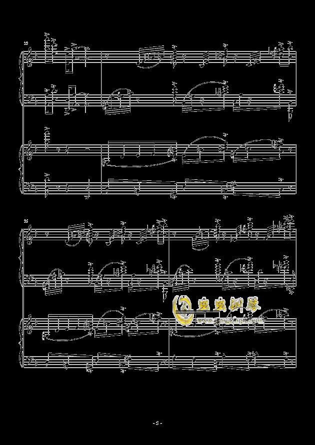 小温狂想曲 2.3钢琴谱 第5页