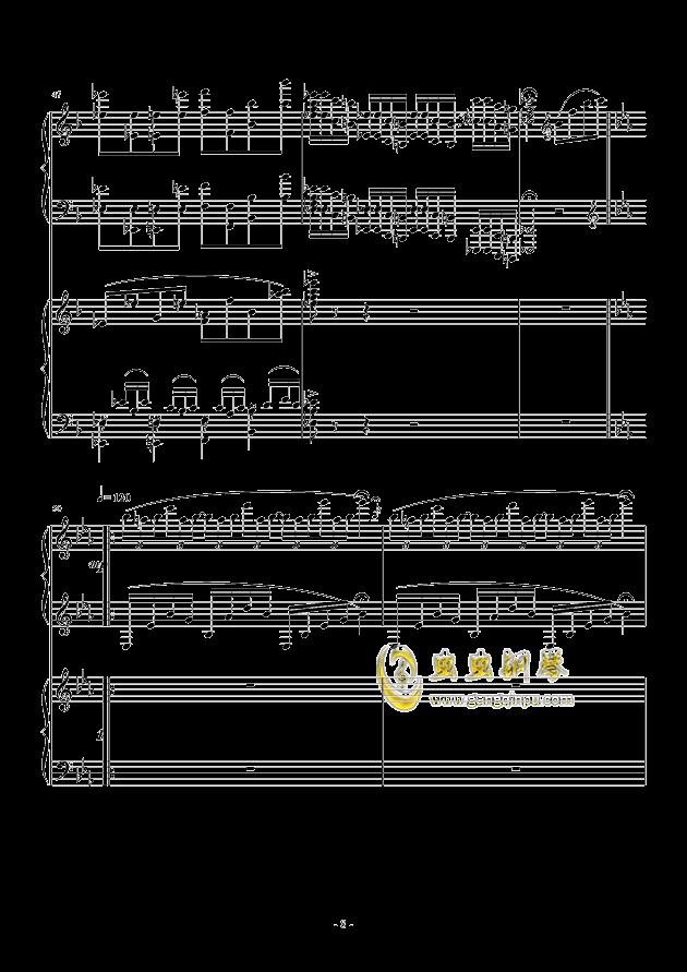 小温狂想曲 2.3钢琴谱 第8页