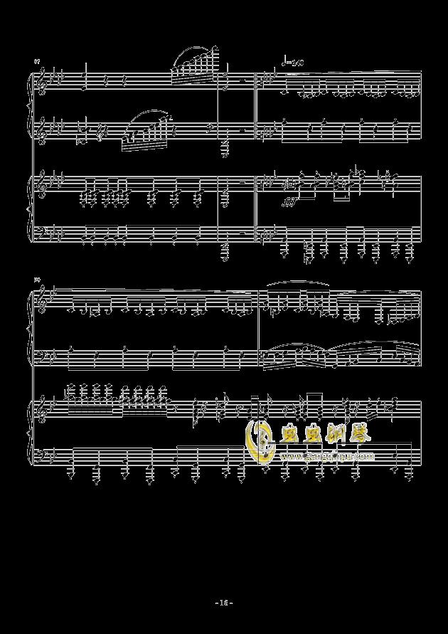 Autumn Suite III.钢琴谱 第16页