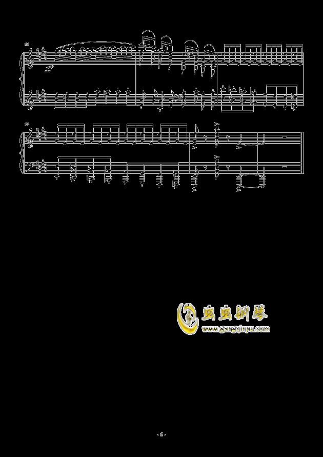 小温狂想曲 2.1钢琴谱 第6页