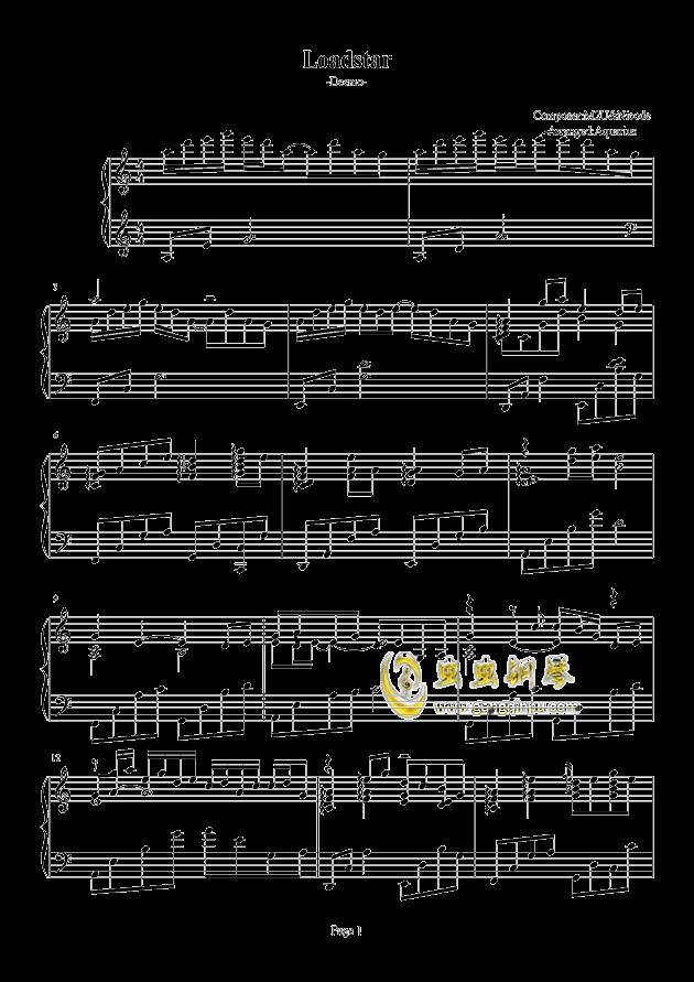 Loadstar钢琴谱 第1页