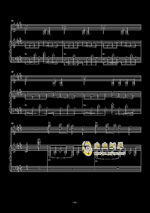 欢快开头的钢琴曲-憧憬 钢琴谱