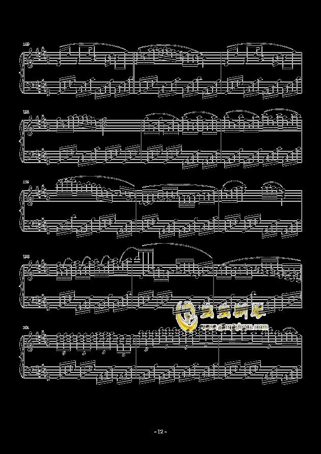 黑暗钢琴谱 第12页