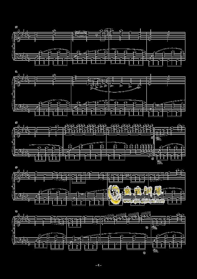 黑暗钢琴谱 第4页