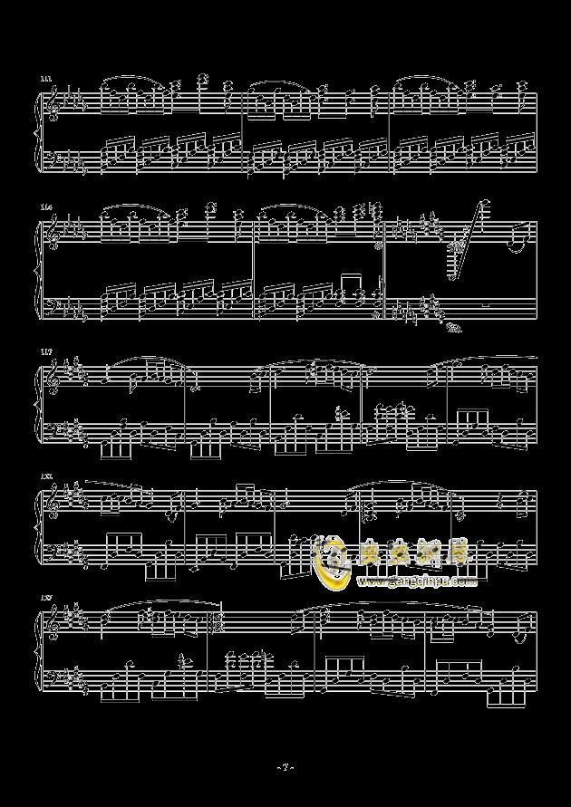 黑暗钢琴谱 第7页
