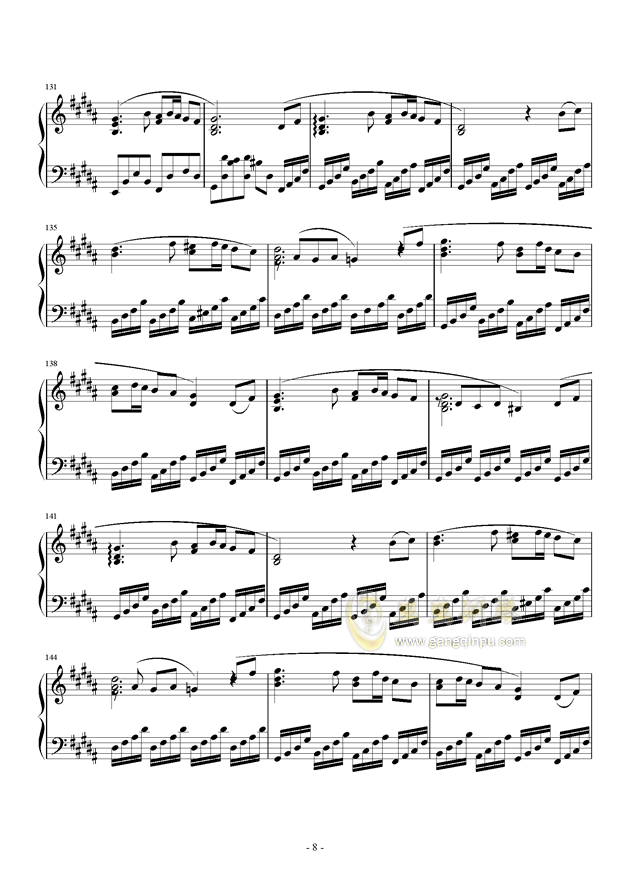 黑暗钢琴谱 第8页
