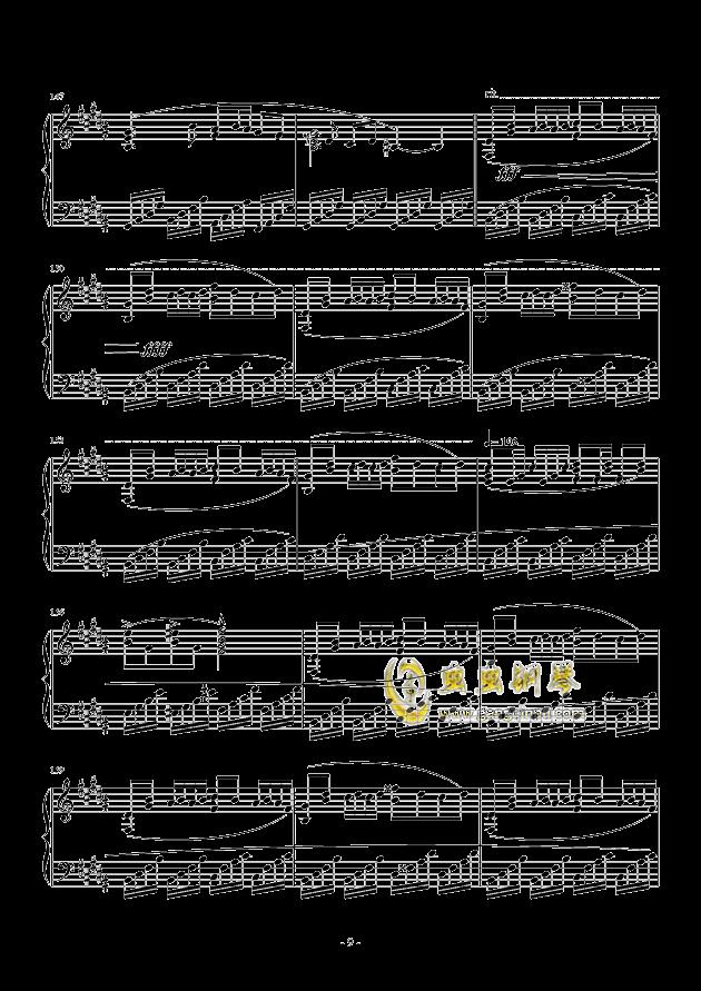 黑暗钢琴谱 第9页