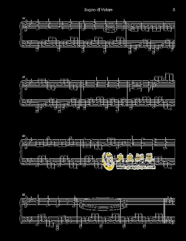 Sogno di Volare钢琴谱 第3页