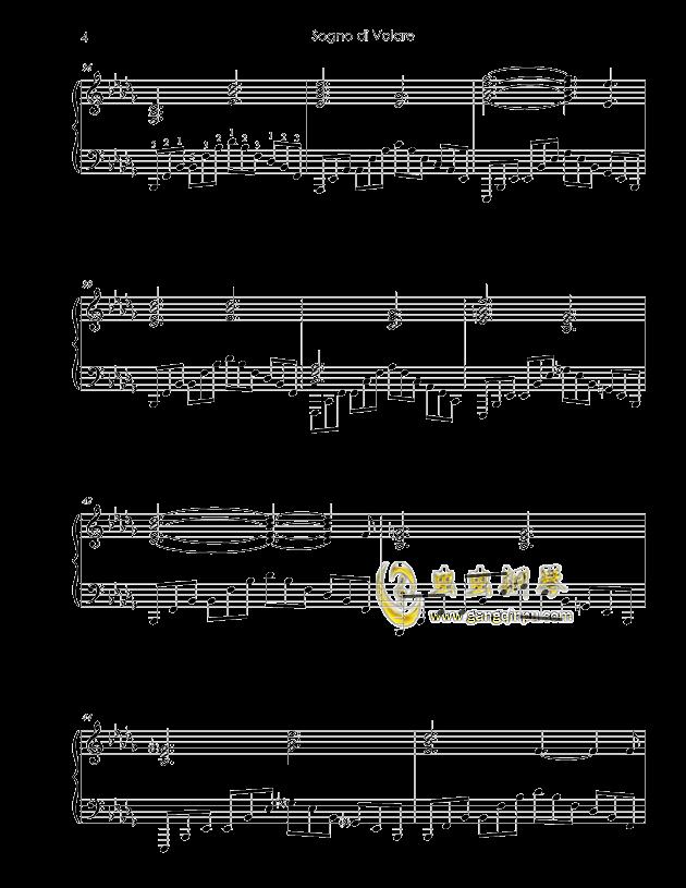 Sogno di Volare钢琴谱 第4页