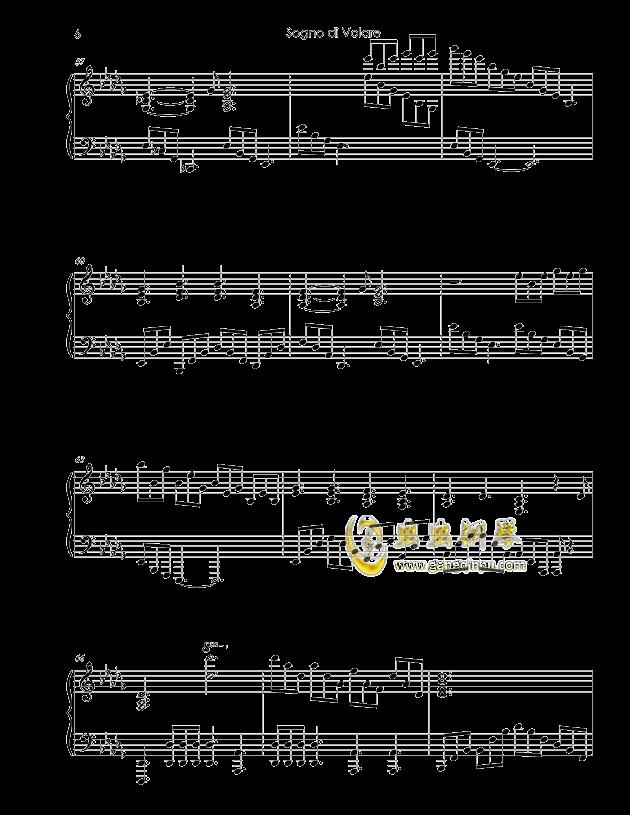 Sogno di Volare钢琴谱 第6页