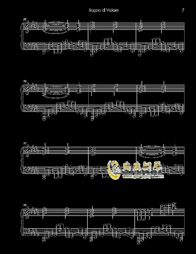 Sogno di Volare钢琴谱 第7页