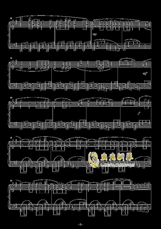 Oblivious钢琴谱 第2页