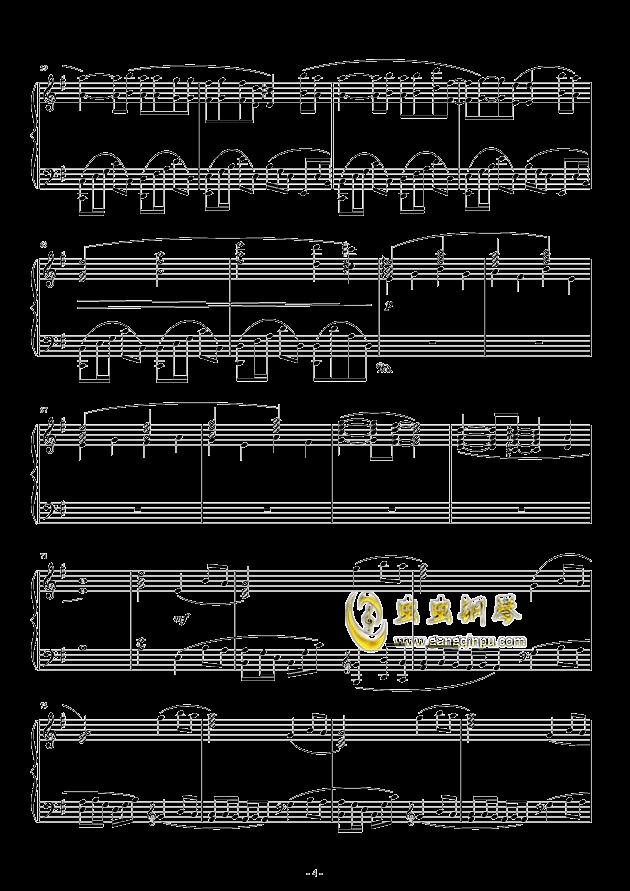 Oblivious钢琴谱 第4页