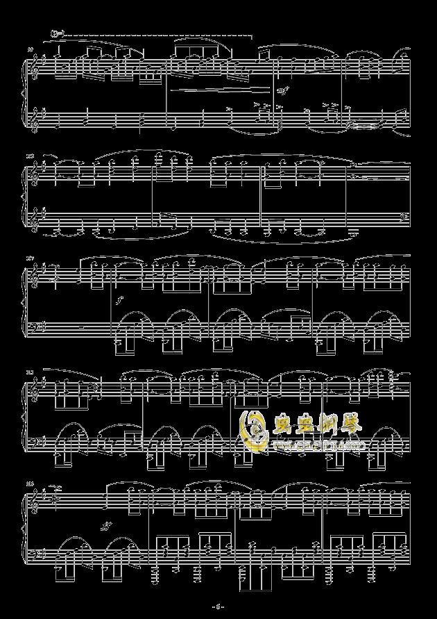 Oblivious钢琴谱 第6页