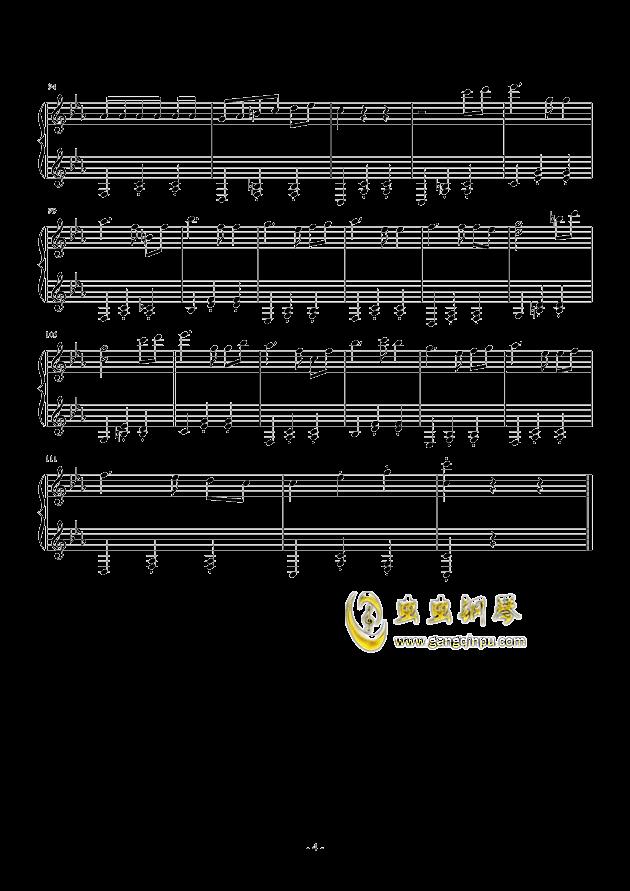 木偶圆舞曲钢琴谱 第4页