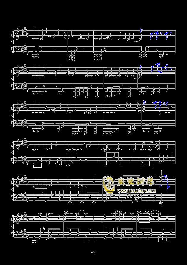 东京夏日相会钢琴谱 第4页