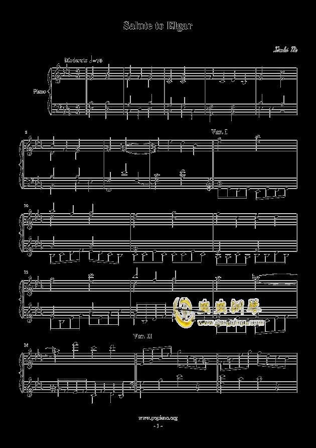 Salute to Elgar钢琴谱 第1页