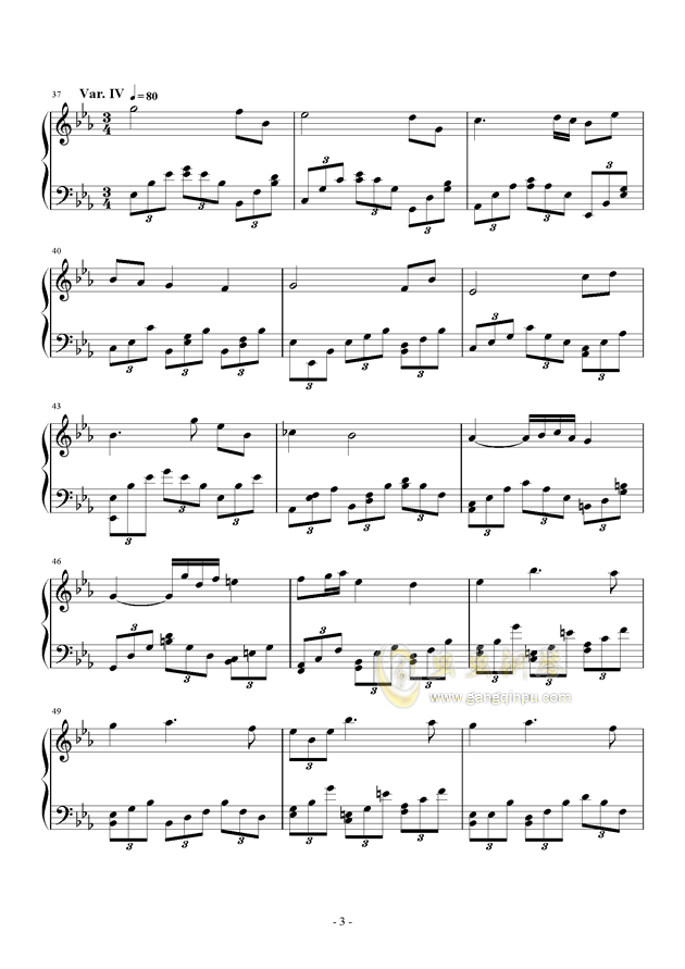 Salute to Elgar钢琴谱 第3页