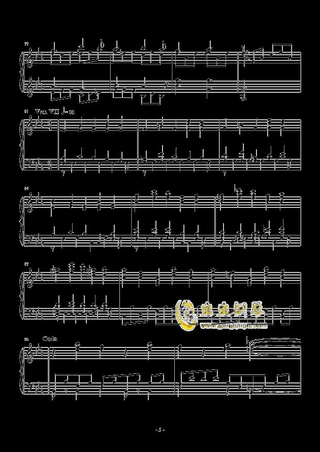 Salute to Elgar钢琴谱 第5页