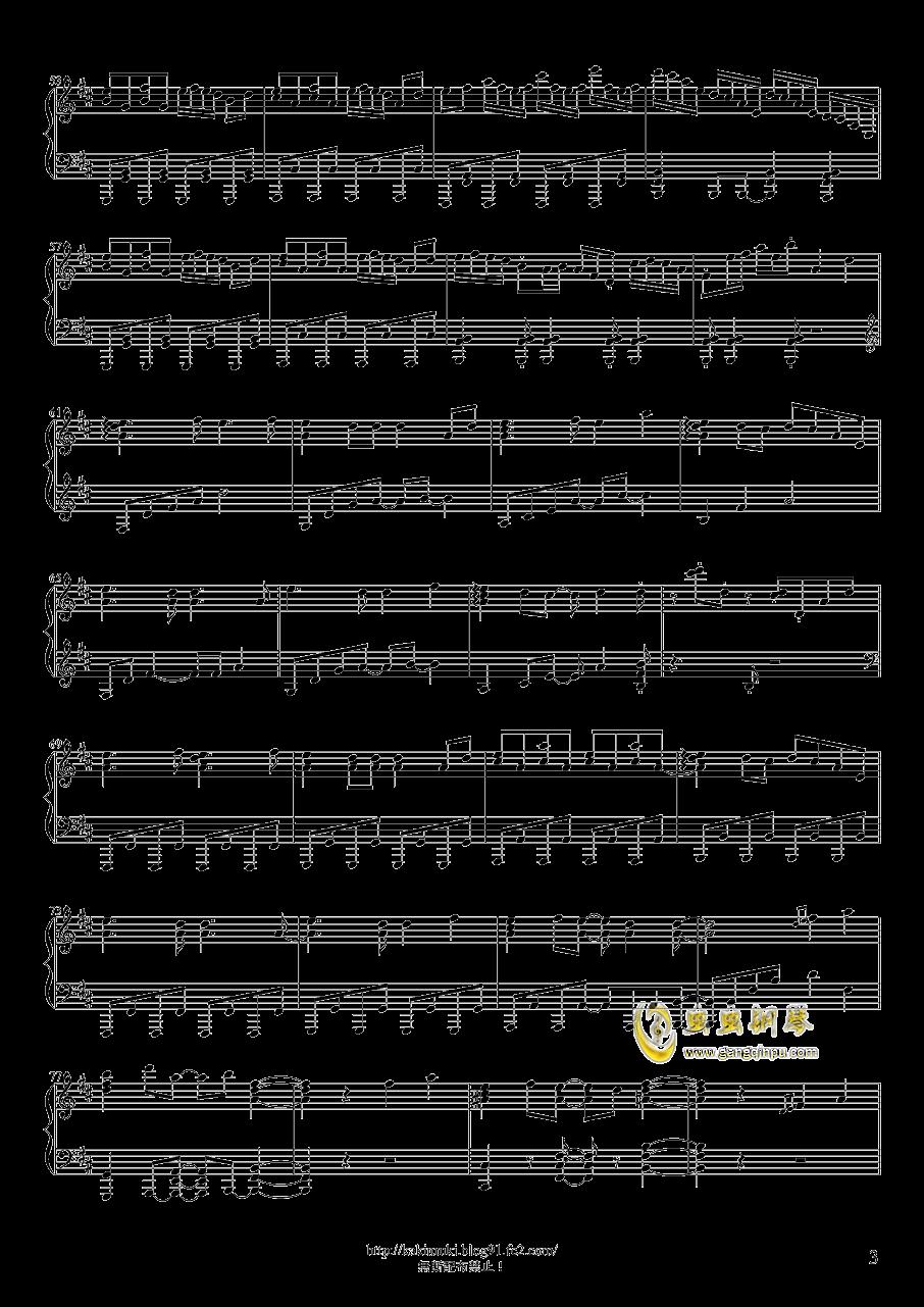 六兆年と一夜物语钢琴谱 第3页