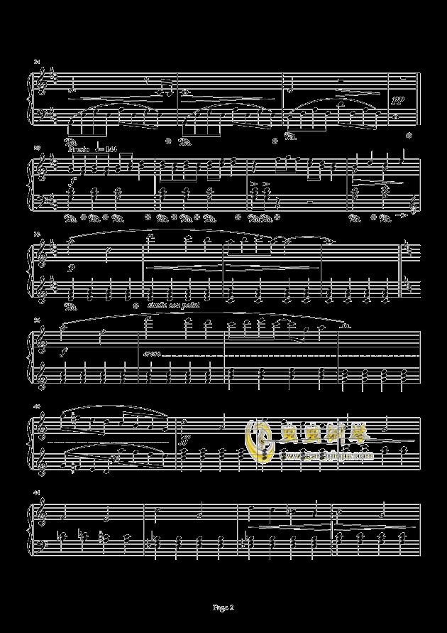 最终幻想FF3-片尾曲钢琴谱 第2页