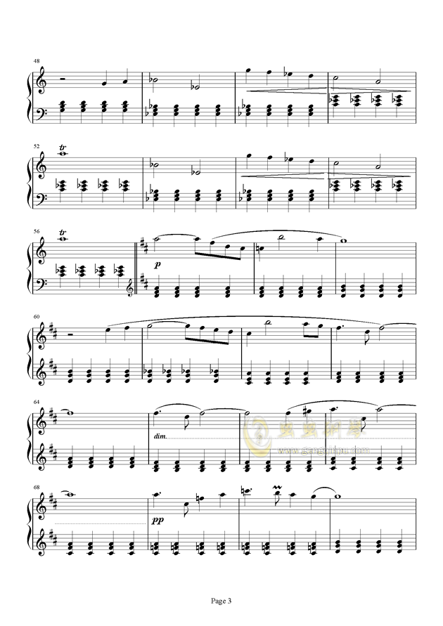 最终幻想FF3-片尾曲钢琴谱 第3页