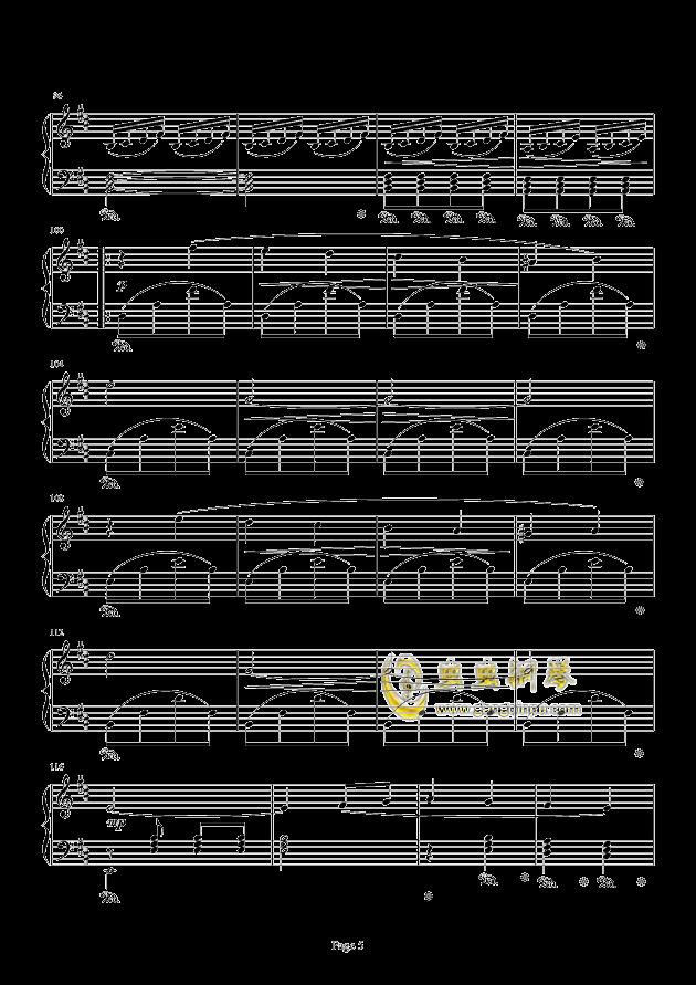 最终幻想FF3-片尾曲钢琴谱 第5页
