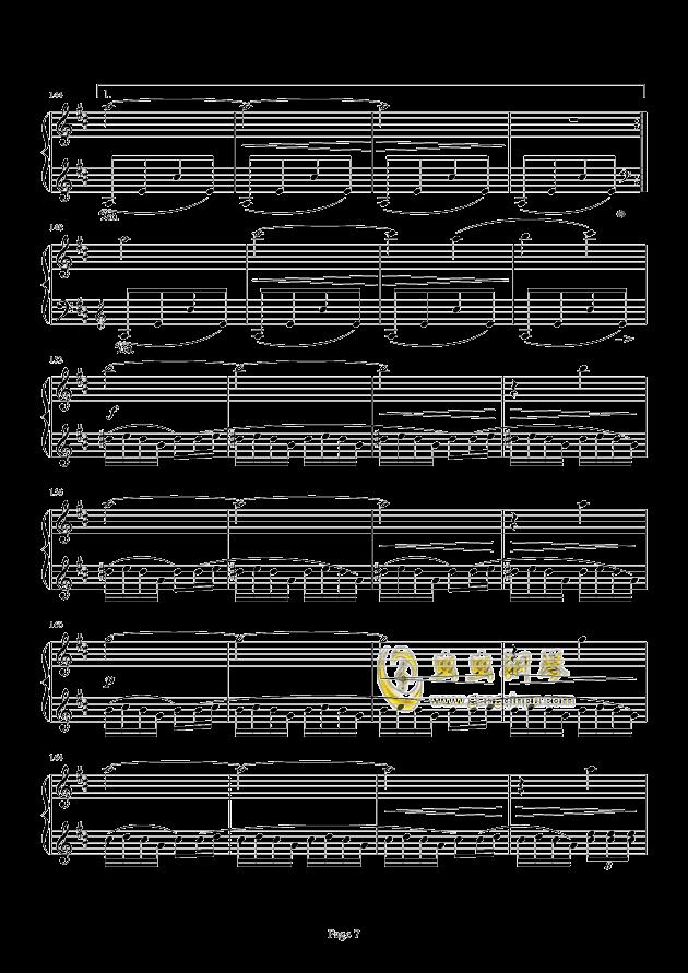 最终幻想FF3-片尾曲钢琴谱 第7页