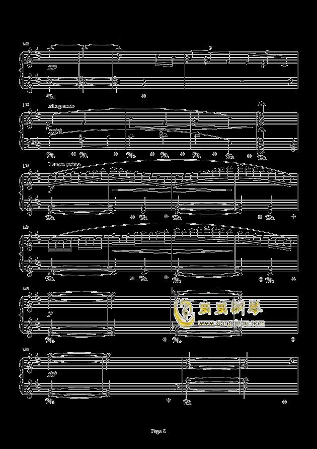 最终幻想FF3-片尾曲钢琴谱 第8页