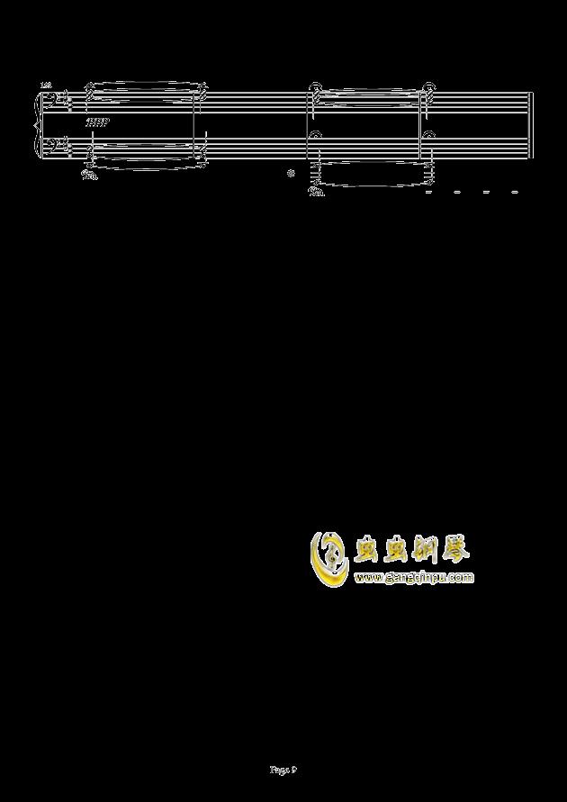 最终幻想FF3-片尾曲钢琴谱 第9页