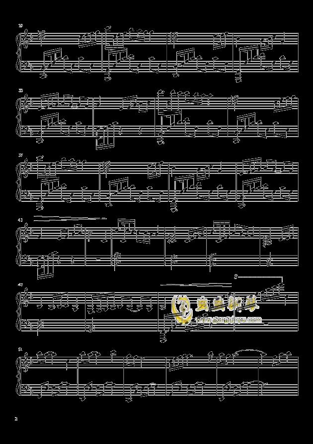 曾经爱过的地方钢琴谱 第2页