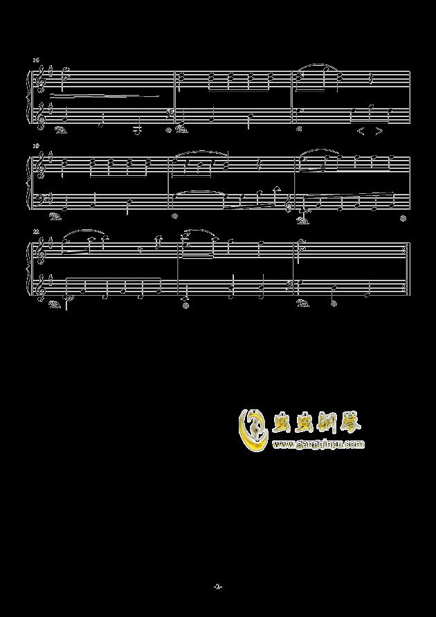 小步舞曲钢琴谱 第2页
