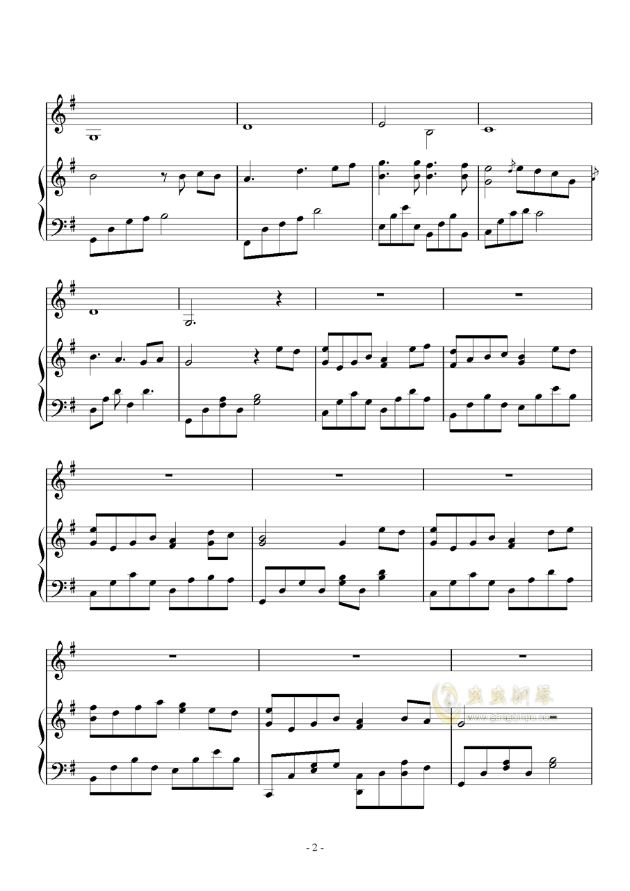 时过境迁钢琴谱 第2页