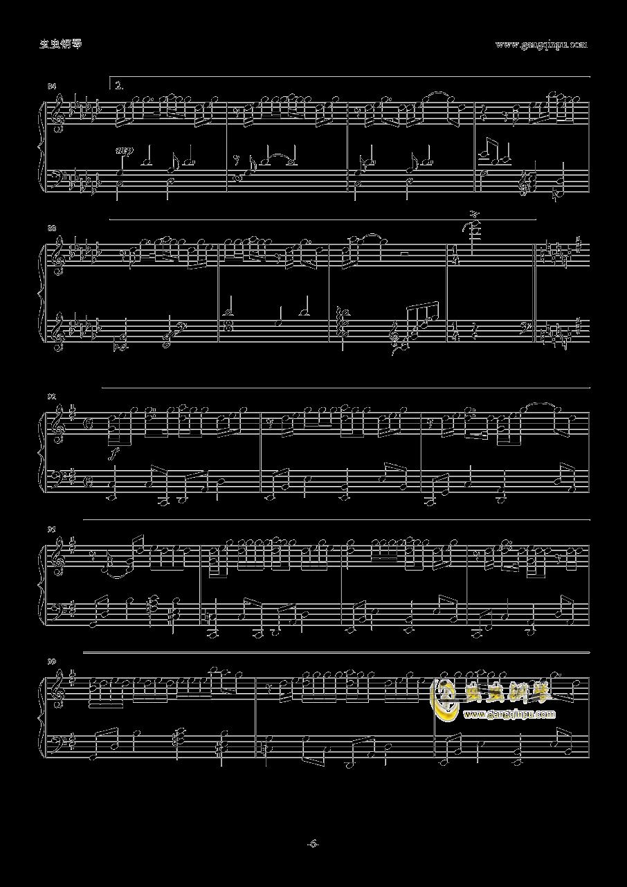 你的名字片尾曲钢琴谱 第6页