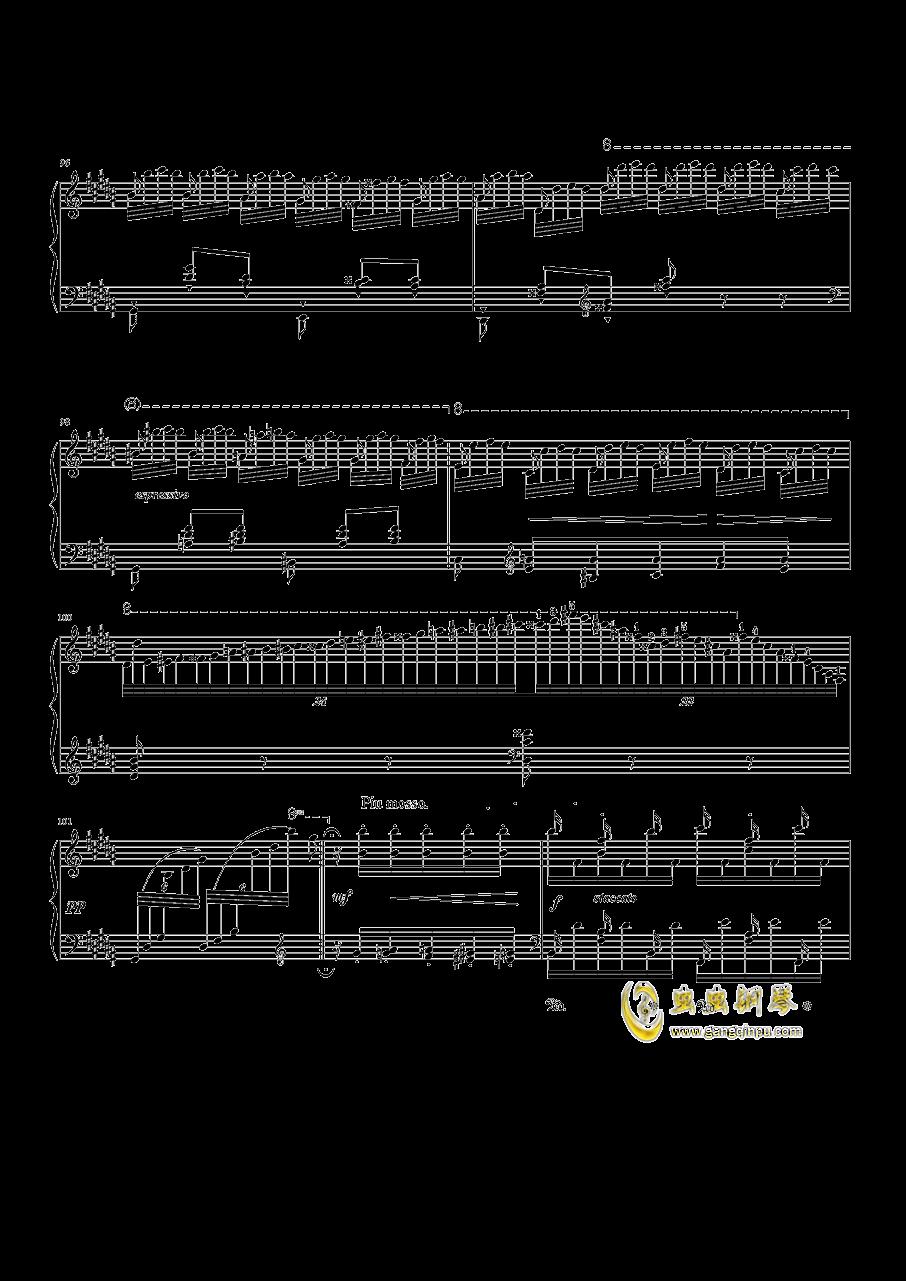 钟钢琴谱 第10页