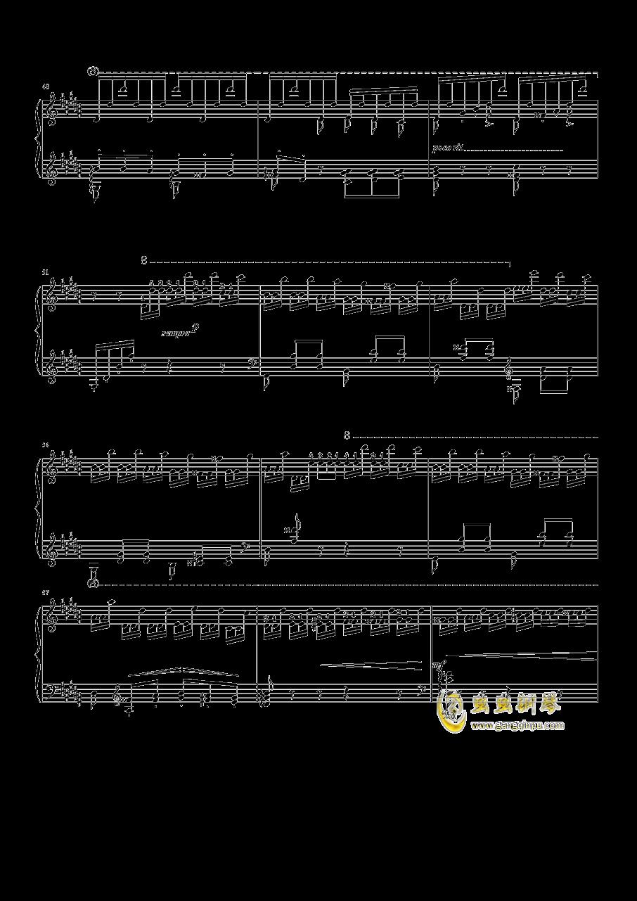 钟钢琴谱 第4页