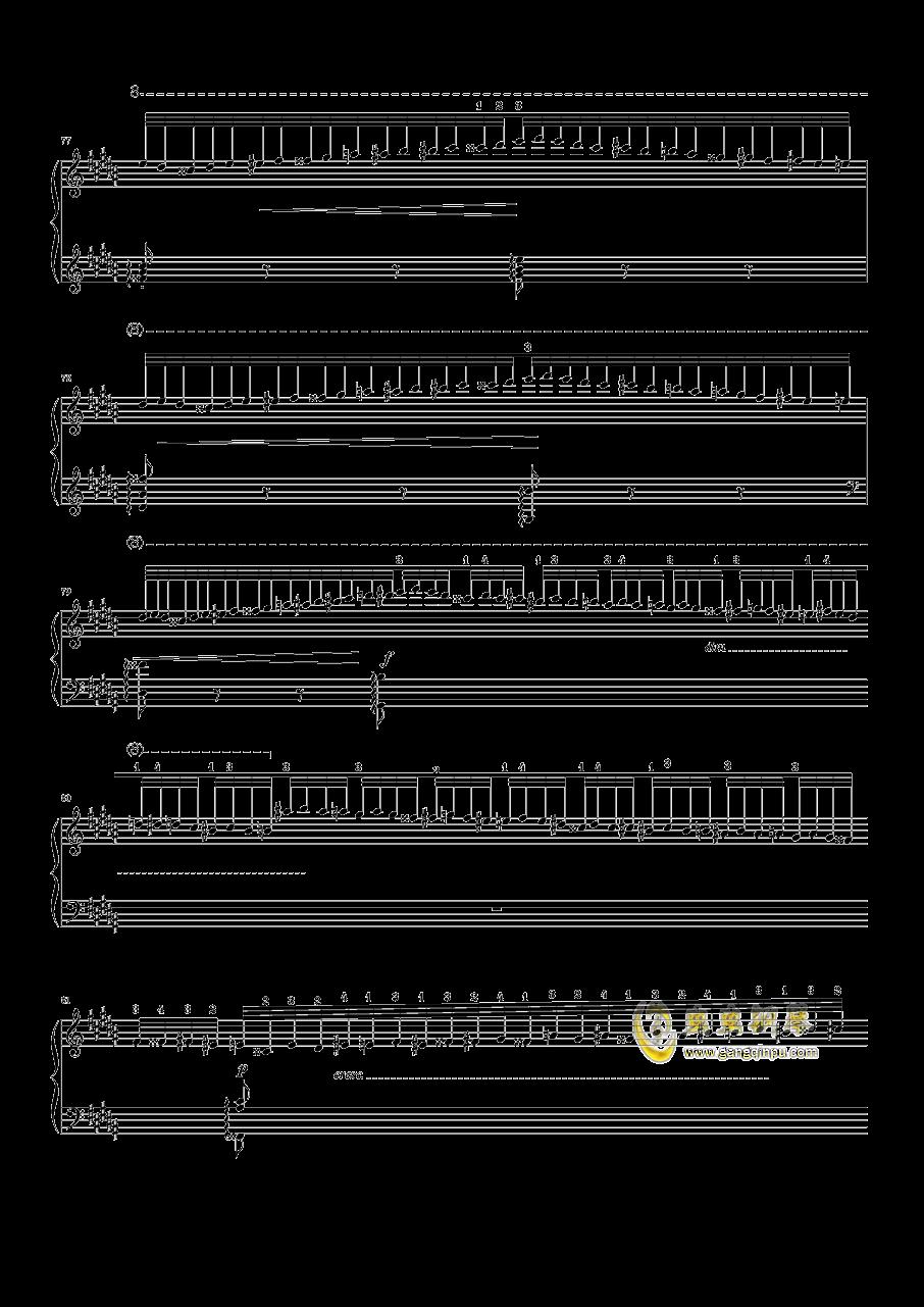 钟钢琴谱 第7页